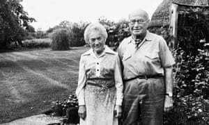 Winifred and Bernard in the garden of their last home at Boxford, Berkshire