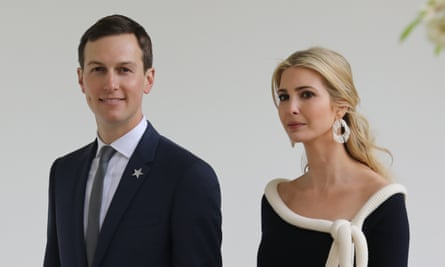 Jared Kushner and Ivanka Trump at the White House in April 2018