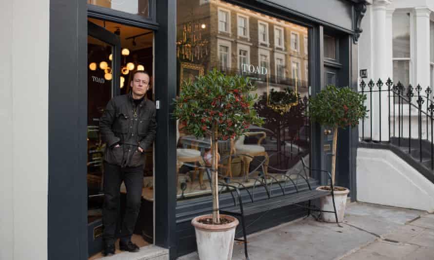 Piers van Til, owner of Toad antiques shop near Kings Road