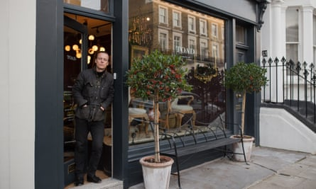 Piers van Til, owner of Toad antiques shop near Kings Road