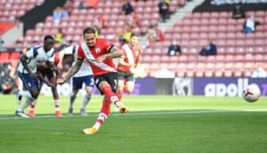 Ings scores Southampton's second goal from the penalty spot.
