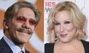 Bette Midler said she did not 'offer myself up on the altar of Geraldo Rivera'.