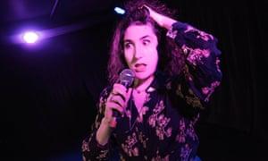 performing her show Communikate on the 2018 Edinburgh fringe.