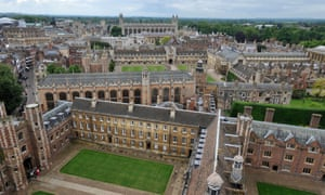 aerial view of The University of Cambridge