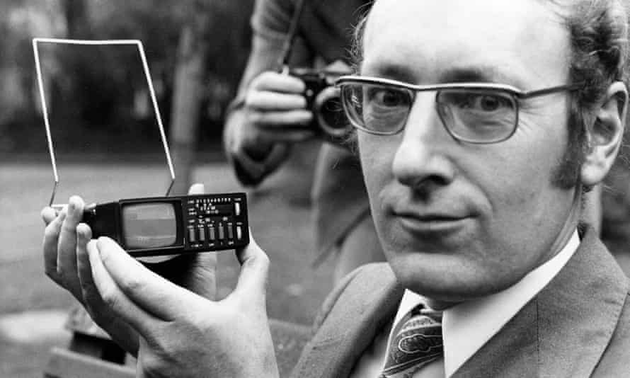Clive Sinclair with pocket TV