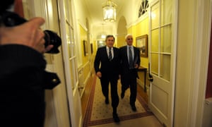 Gordon Brown and Alistair Darling, then prime minister and chancellor of the exchequer, in December 2009.