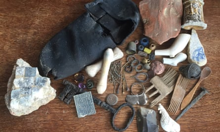 From clay pipes to 500-year-old shoes: some of Lara's finds.