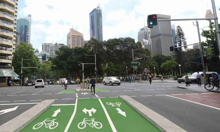 Part of the unusual design for the proposed cycleway on Sydney's Oxford Street.