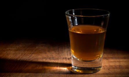 Single shot of alcohol