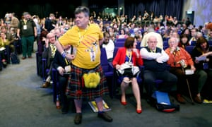 Delegates at the SNP conference in Glasgow.