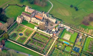 Aerial view of Penshurst Place, Kent. UK