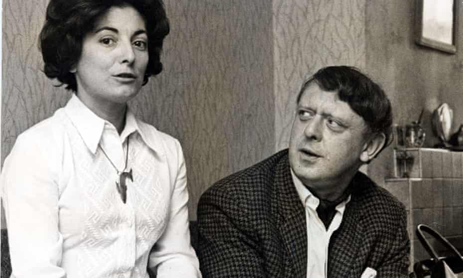 Anthony Burgess with his second wife, Liana, before their marriage in 1968.