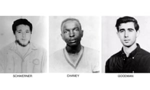 From left: Michael Schwerner, 24, James Cheney, 21, and Andrew Goodman, 20. The trio disappeared in 1964.