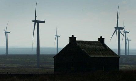 A wind farm near Thurso, near John o' Groats.