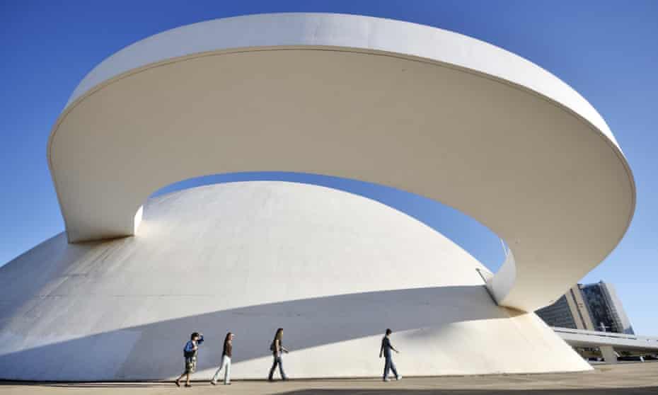 The National Museum of the Republic by Oscar Niemeyer, Brasília, Brazil.