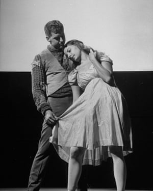 Alicia Alonso and her husband, Fernando, in the American Ballet Theatre production of Undertow, 1947.