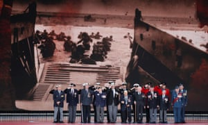 Second world war veterans at an event on the south coast of England to commemorate the 75th anniversary of the D-Day landings.