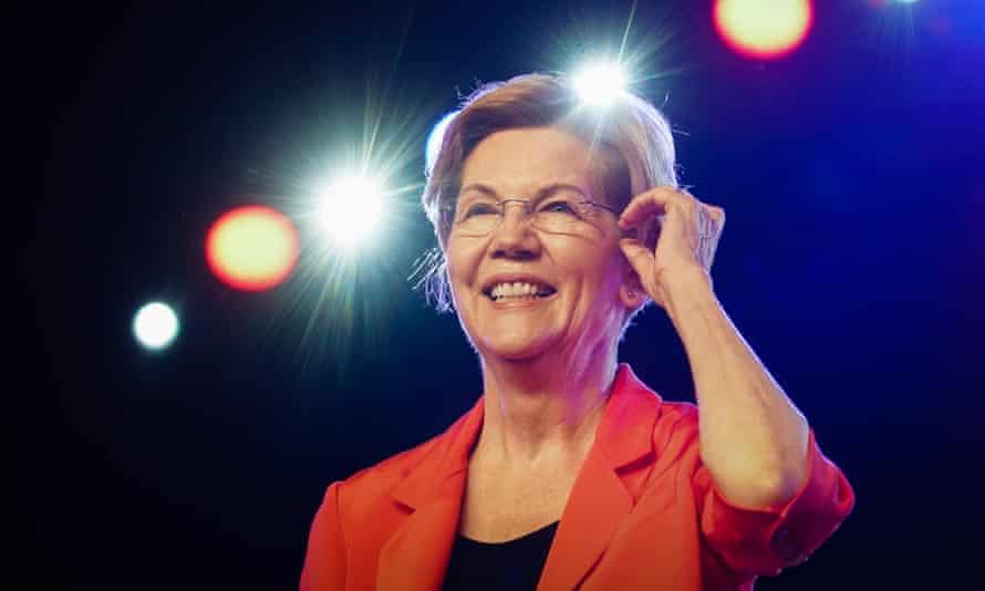 Elizabeth Warren in Atlanta, Georgia, on 17 August.