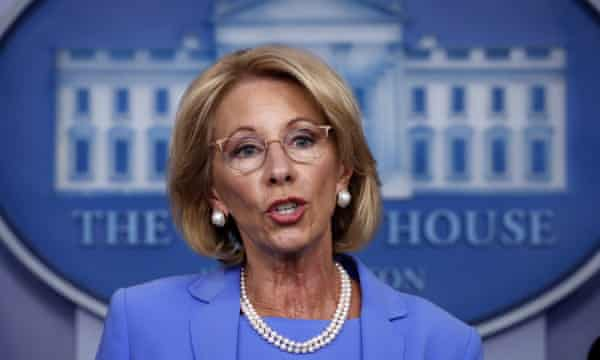 Why the DeVos family's backing of the Michigan protests is no surprise | Betsy DeVos | The Guardian