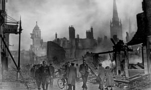 The morning after a bombing raid on Coventry in 1940.