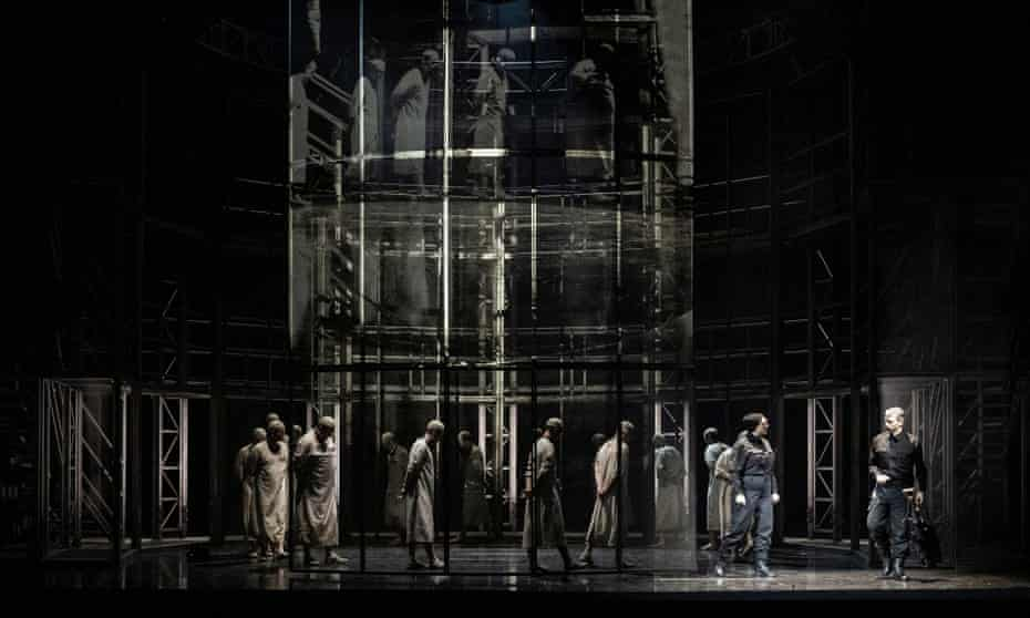 A model of social control and oppression … Anna Jones's imposing set for Fidelio at Glyndebourne, October 2021.