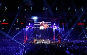 The Anthony Joshua v Alexander Povetkin World Heavyweight boxing title fight at Wembley Stadium on September 22nd 2018 in London