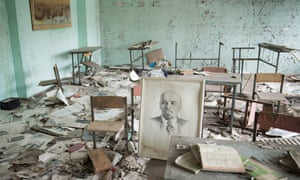 A classroom in Pripyat, the town built to serve the power plant.