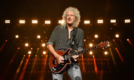 Medication was 'a horrible trip' … Brian May performing in Sydney, in February.