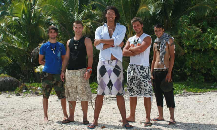 Joe Stone, on the far left, was a contestant in the original Shpwrecked