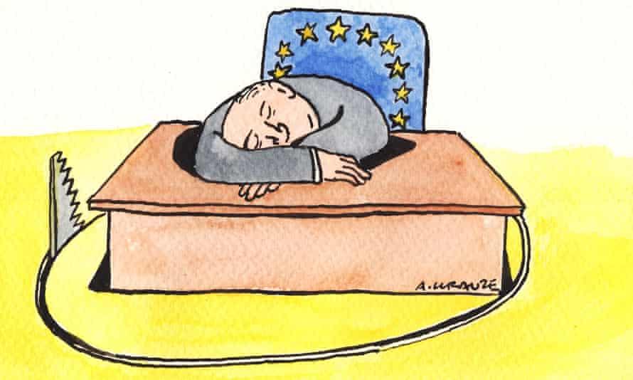 Andrzej Krauze's illustration on Europe's complacent political elite