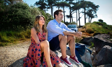 Having a moment … Sharon Horgan and Rob Delaney in season four of Catastrophe.