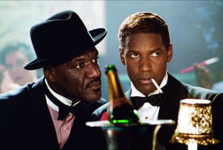 Delroy Lindo and Denzel Washington in Malcolm X.