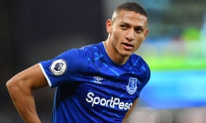 Richarlison signed a five-year contract with Everton in December.