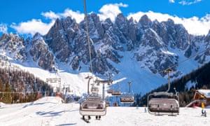 Winter landscape in Dolomites