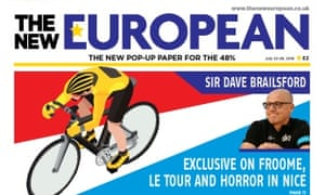 The New European: believed to have sold more than 40,000 copies.