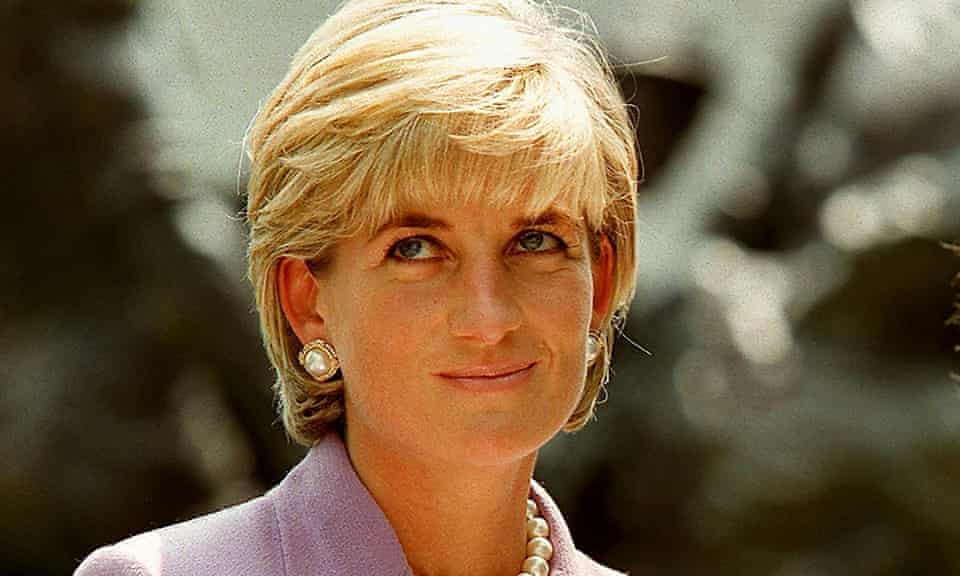 Diana, Princess of Wales at a ceremony at Red Cross headquarters in Washington to call for a global ban on anti-personnel landmines.