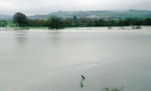 Flooding on the Axe valley