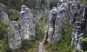 Strange rock formations in Prachovské Skály