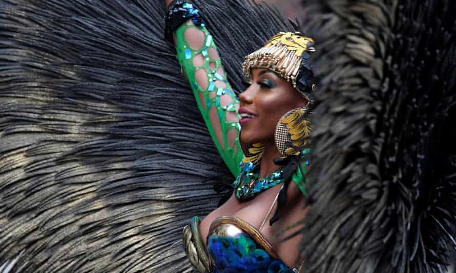 A soca dancer in west London promotes the first ever virtual Notting Hill carnival