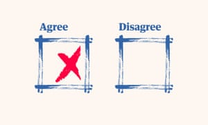 Agree and disagree boxes