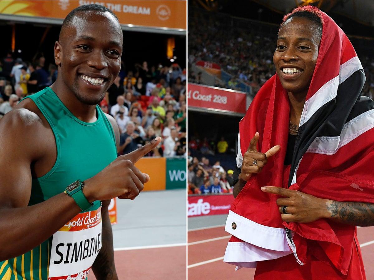 Simbine Beats Yohan Blake In Men S 100m Final As Ahye Takes Women S Title Commonwealth Games 2018 The Guardian
