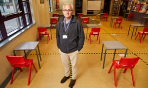 Headteacher John Tomsett has made preparations for physical distancing in readiness for the return of some year 10 pupils at Huntington school in York.