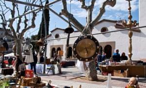 Flea market in Arenys de Mar.