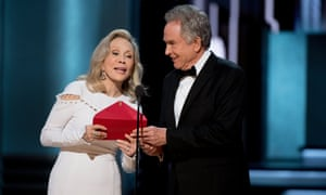 Dunaway and Beatty at the Oscars in February.