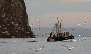 Fshermen at work off the east coast of Scotland