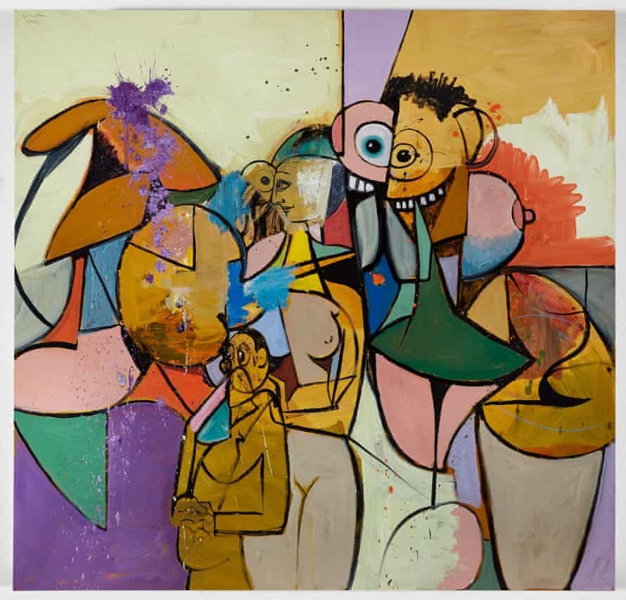 The Day They All Got Out, 2021, by George Condo.