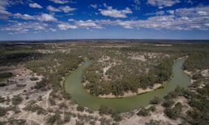 River winding through land