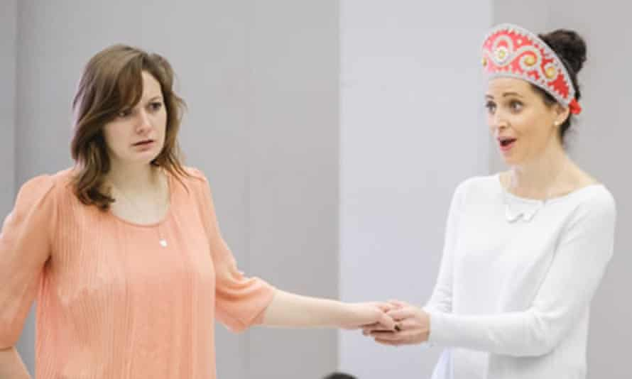 Heather Lowe and Aoife Miskelly in rehearsal for The Snow Maiden at Opera North.