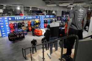 NFL team jerseys on sale in the megastore