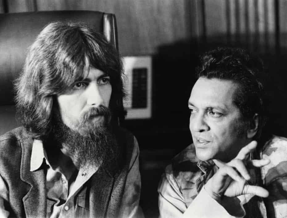 George Harrison and Ravi Shankar in the documentary series.